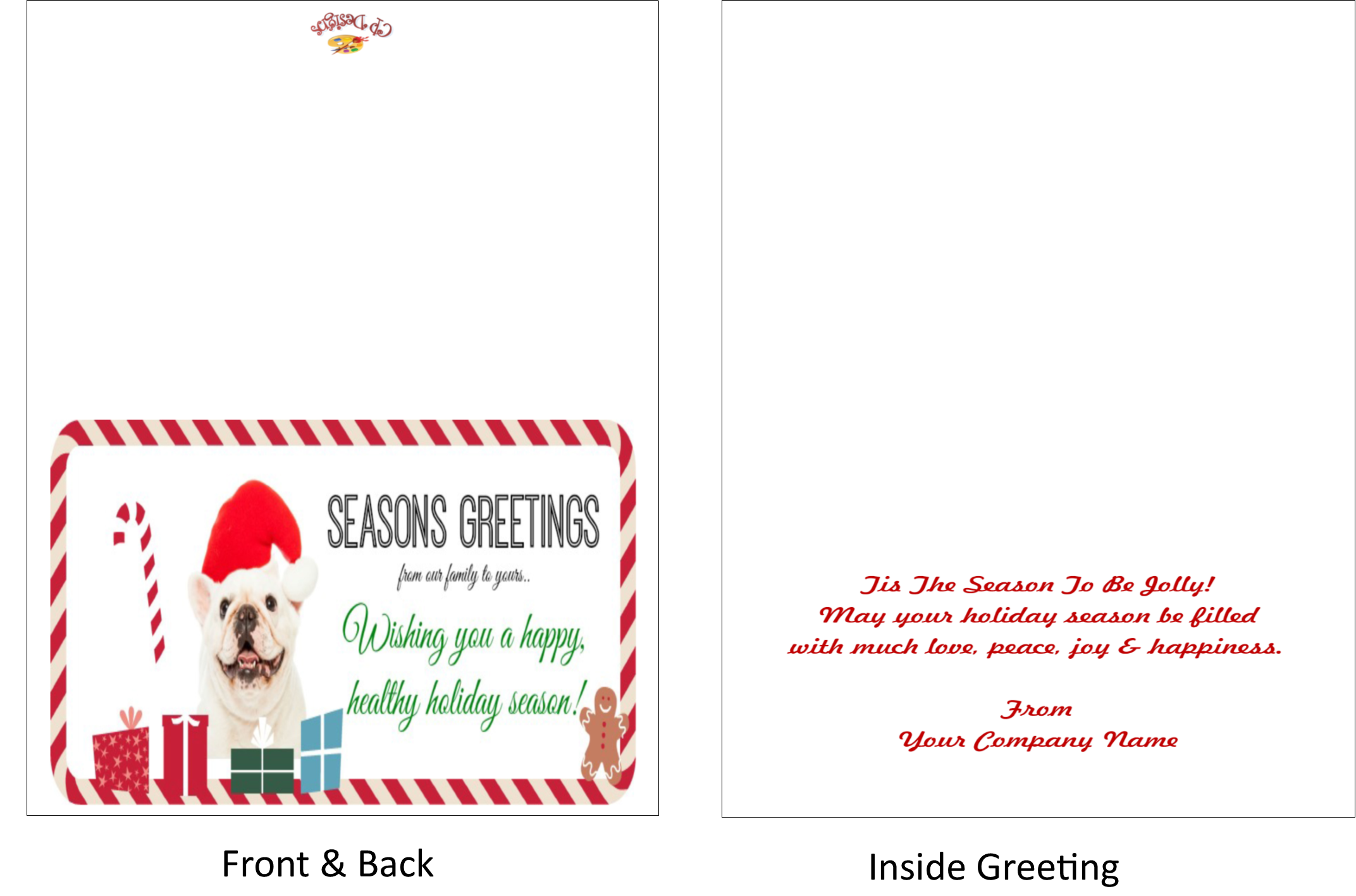 Seasons greeting cards creative presse magic night blue silver ornament seasons greetings dog funny santa kristyandbryce Image collections