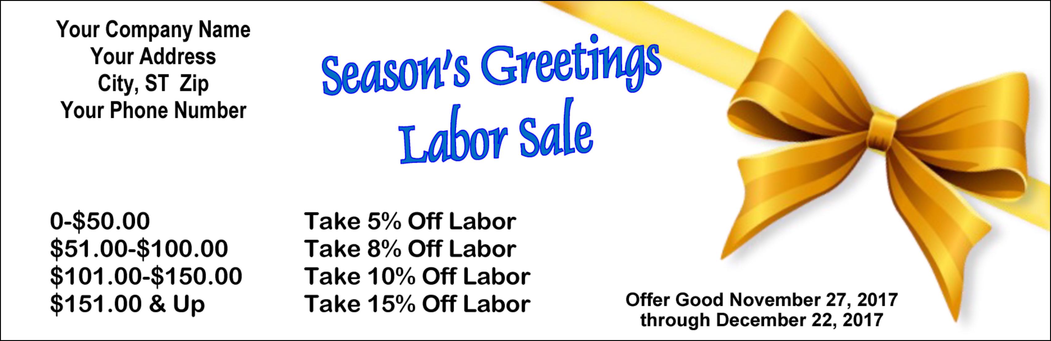 Seasons greeting coupons envelopes creative presse holiday giveaway coupon seasons greetings labor sale coupon kristyandbryce Images